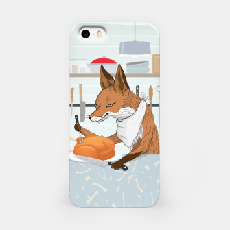 Hearty Dinner Time in Fox's Kitchen iPhone Case thumbnail image