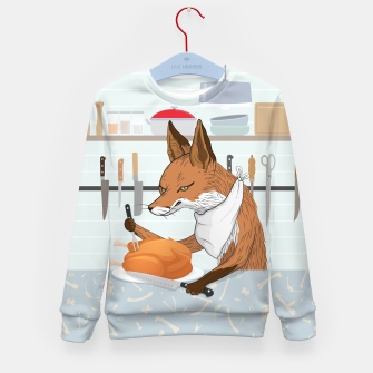 Hearty Dinner Time in Fox's Kitchen Kid's sweater thumbnail image