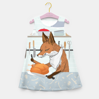 Hearty Dinner Time in Fox's Kitchen Girl's summer dress thumbnail image