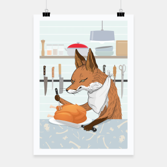 Hearty Dinner Time in Fox's Kitchen Poster thumbnail image
