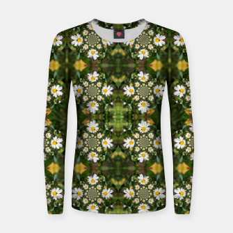Miniature de image de Magic Field Summer Grass - Chamomile Flower with Bug - Polarity #1 Women sweater, Live Heroes