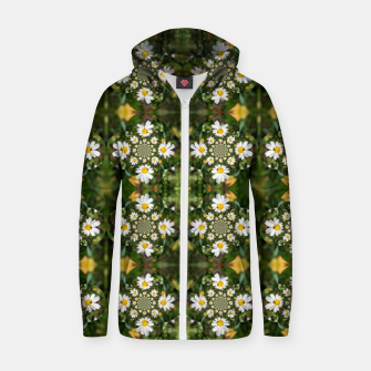 Miniature de image de Magic Field Summer Grass - Chamomile Flower with Bug - Polarity #1 Zip up hoodie, Live Heroes