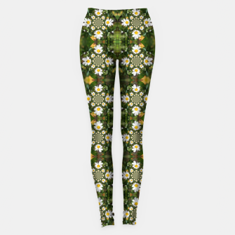 Miniature de image de Magic Field Summer Grass - Chamomile Flower with Bug - Polarity #1 Leggings, Live Heroes