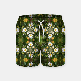 Miniature de image de Magic Field Summer Grass - Chamomile Flower with Bug - Polarity #1 Swim Shorts, Live Heroes