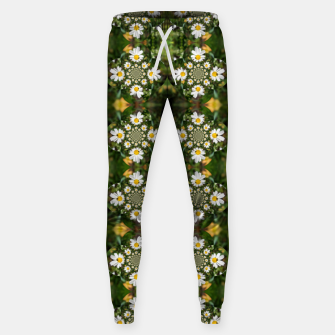 Miniature de image de Magic Field Summer Grass - Chamomile Flower with Bug - Polarity #1 Sweatpants, Live Heroes
