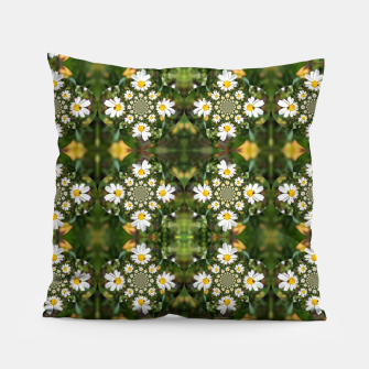 Miniature de image de Magic Field Summer Grass - Chamomile Flower with Bug - Polarity #1 Pillow, Live Heroes