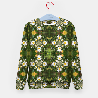 Miniature de image de Magic Field Summer Grass - Chamomile Flower with Bug - Polarity #1 Kid's sweater, Live Heroes