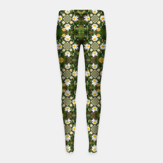 Miniature de image de Magic Field Summer Grass - Chamomile Flower with Bug - Polarity #1 Girl's leggings, Live Heroes