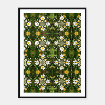 Miniature de image de Magic Field Summer Grass - Chamomile Flower with Bug - Polarity #1 Framed poster, Live Heroes