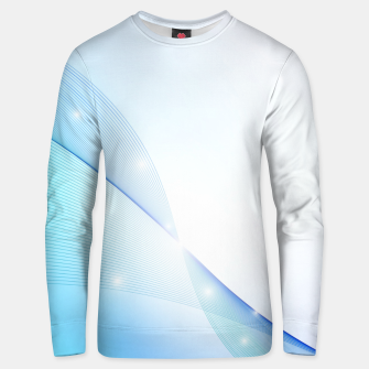 Thumbnail image of Abstract blue wave Unisex sweater, Live Heroes