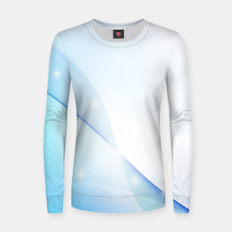 Thumbnail image of Abstract blue wave Women sweater, Live Heroes