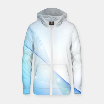 Thumbnail image of Abstract blue wave Zip up hoodie, Live Heroes