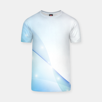 Thumbnail image of Abstract blue wave T-shirt, Live Heroes