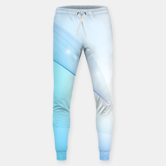 Thumbnail image of Abstract blue wave Sweatpants, Live Heroes