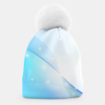 Thumbnail image of Abstract blue wave Beanie, Live Heroes