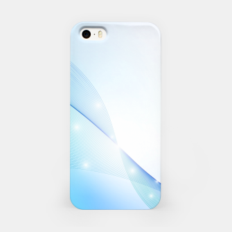 Thumbnail image of Abstract blue wave iPhone Case, Live Heroes