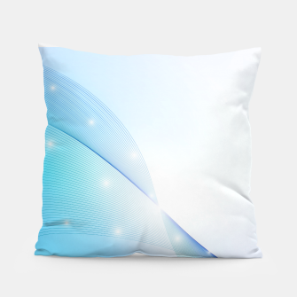 Thumbnail image of Abstract blue wave Pillow, Live Heroes