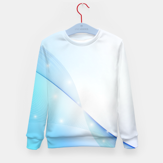 Thumbnail image of Abstract blue wave Kid's sweater, Live Heroes