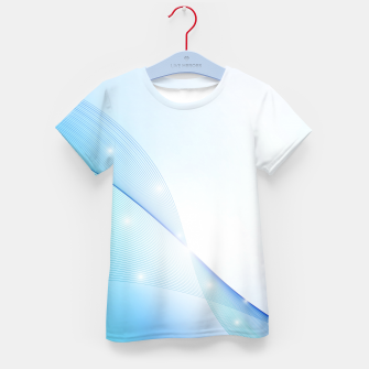 Thumbnail image of Abstract blue wave Kid's t-shirt, Live Heroes