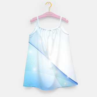 Thumbnail image of Abstract blue wave Girl's dress, Live Heroes