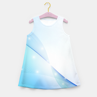 Thumbnail image of Abstract blue wave Girl's summer dress, Live Heroes