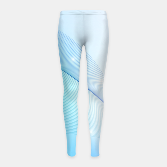 Thumbnail image of Abstract blue wave Girl's leggings, Live Heroes