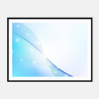 Thumbnail image of Abstract blue wave Framed poster, Live Heroes