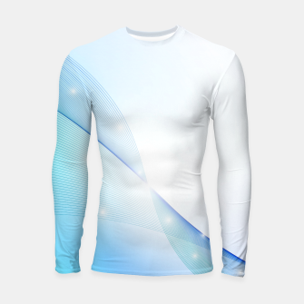 Thumbnail image of Abstract blue wave Longsleeve rashguard , Live Heroes