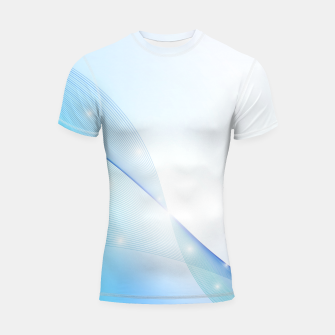 Thumbnail image of Abstract blue wave Shortsleeve rashguard, Live Heroes