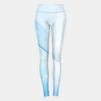 Thumbnail image of Abstract blue wave Leggings, Live Heroes