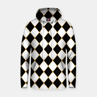 Thumbnail image of Chess board pattern with gold lines. Hoodie, Live Heroes