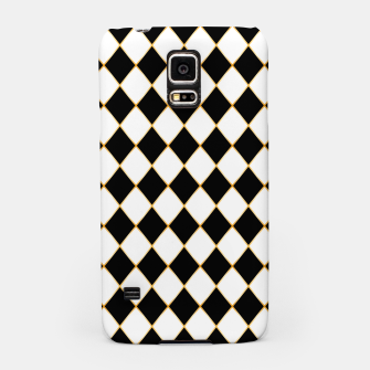 Thumbnail image of Chess board pattern with gold lines. Samsung Case, Live Heroes