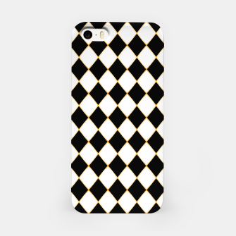 Thumbnail image of Chess board pattern with gold lines. iPhone Case, Live Heroes