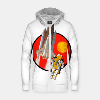 Thumbnail image of Rosette Zip up hoodie, Live Heroes