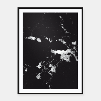 Thumbnail image of Black Marble #3 #decor #art  Plakat mit rahmen, Live Heroes