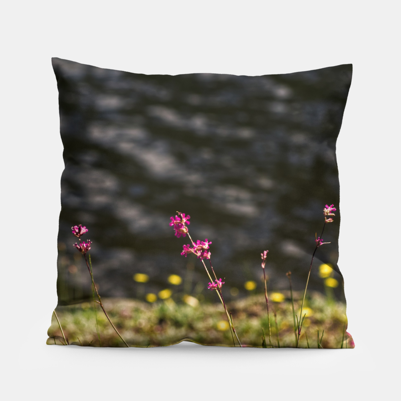 Image of By the river Pillow - Live Heroes