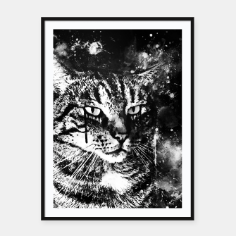 Miniatur koko the cat wsbw Framed poster, Live Heroes