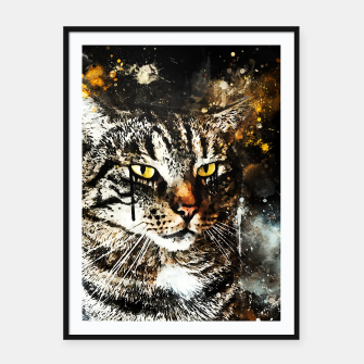 Thumbnail image of koko the cat wsstd Framed poster, Live Heroes