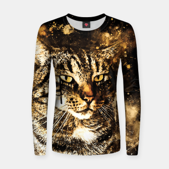 Thumbnail image of koko the cat wssepia Women sweater, Live Heroes