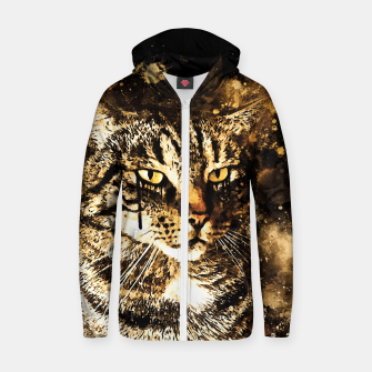 koko the cat wssepia Zip up hoodie thumbnail image