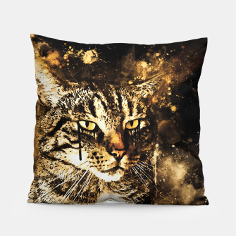 koko the cat wssepia Pillow thumbnail image