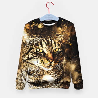 koko the cat wssepia Kid's sweater thumbnail image