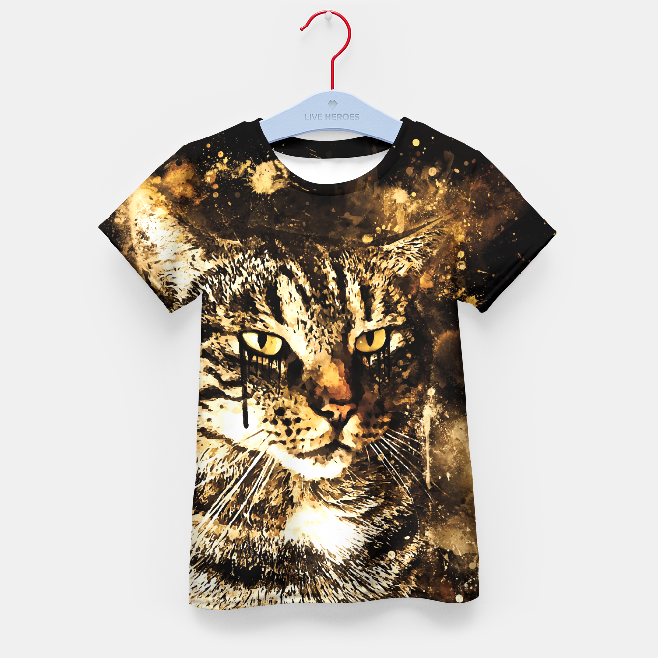 Image of koko the cat wssepia Kid's t-shirt - Live Heroes