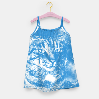 koko the cat wswb Girl's dress thumbnail image