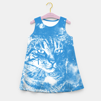 koko the cat wswb Girl's summer dress thumbnail image