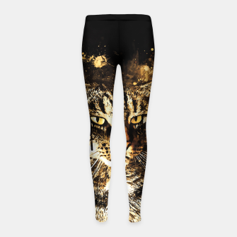 Thumbnail image of koko the cat wssepia Girl's leggings, Live Heroes