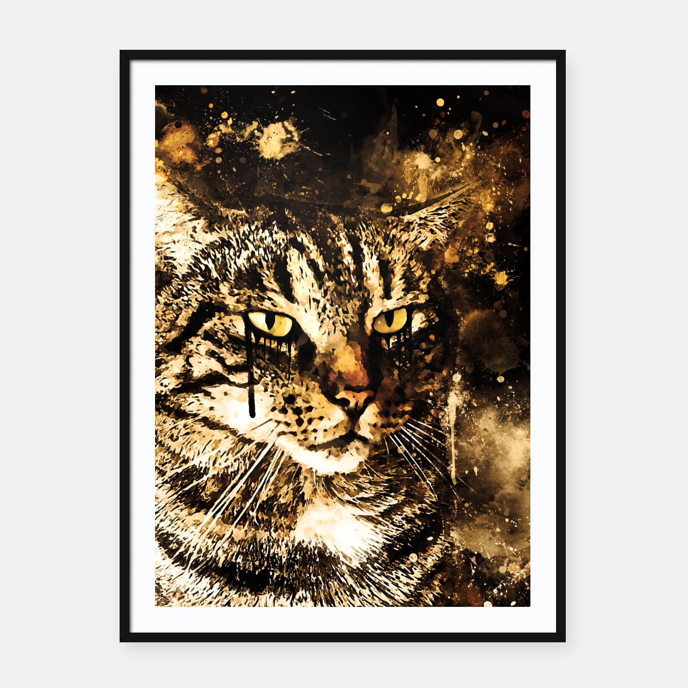 Image of koko the cat wssepia Framed poster - Live Heroes