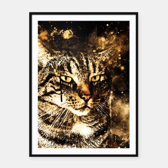 Thumbnail image of koko the cat wssepia Framed poster, Live Heroes