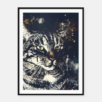 Thumbnail image of koko the cat wsfn Framed poster, Live Heroes