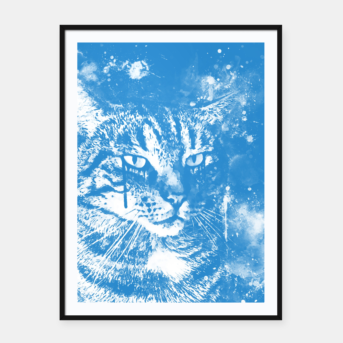 Image of koko the cat wswb Framed poster - Live Heroes